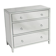 Glamour Mirrored 3 Drawer Chest