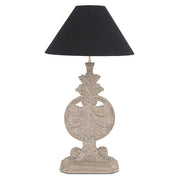 Montgomery Table Lamp hand carved Mindi wood