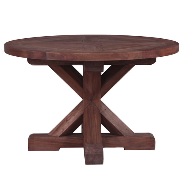 Country Cottage Trestle Round Dining Table