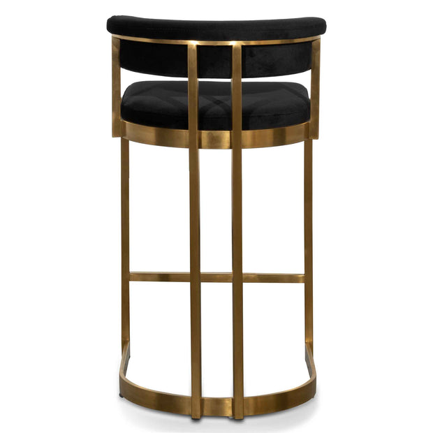 CBS6272-BS Black Velvet Bar Stool - Golden Base