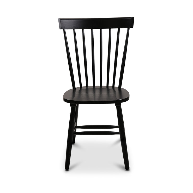 2x Artiss Windsor Replica Dining Chairs Scandinavian Slat Highback Black
