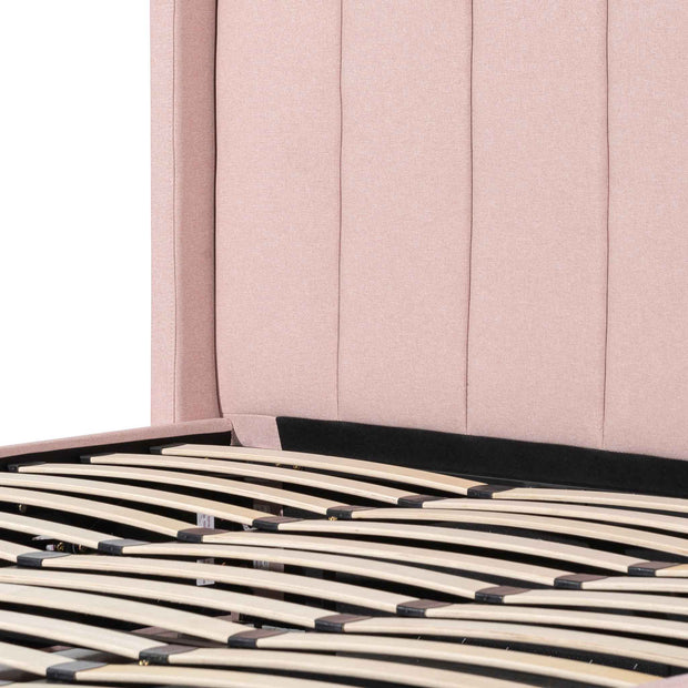 CBD6357-YO Fabric King Bed - Blush Pink with Storage