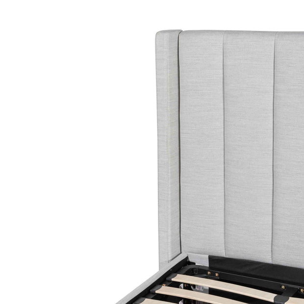CBD6359-YO Fabric Single Bed Frame - Pearl Grey with Storage