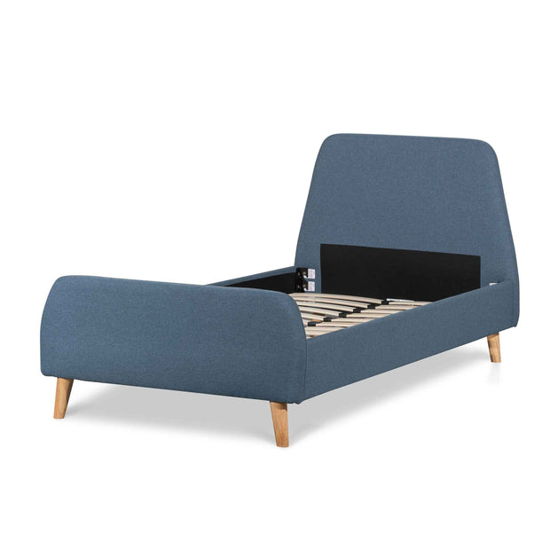 CBD6355-YO Fabric Single Bed Frame - Yale Blue