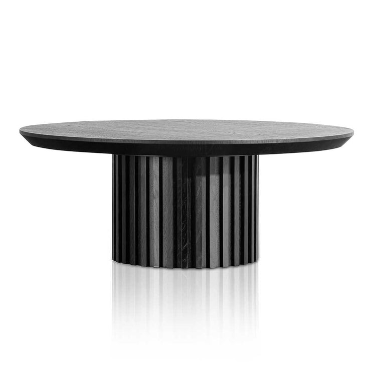 90cm Wooden Round Coffee Table - Black