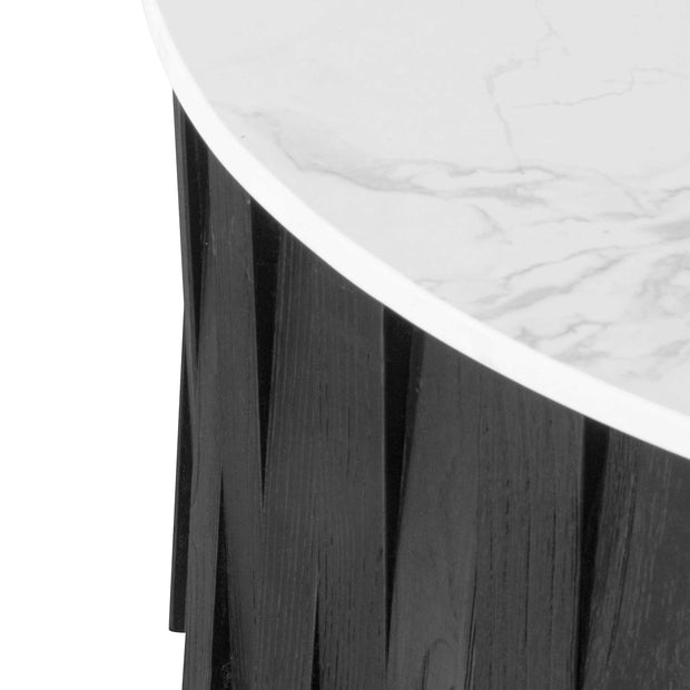 Round marble Coffee Table - Black
