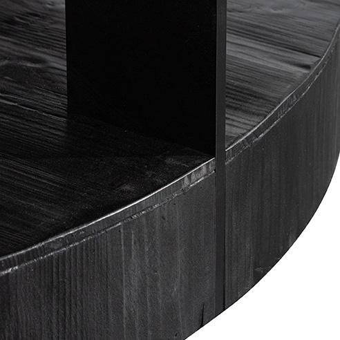 100cm Round Coffee Table - Full Black