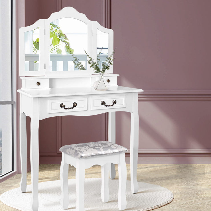 Artiss Dressing Table with Mirror - White
