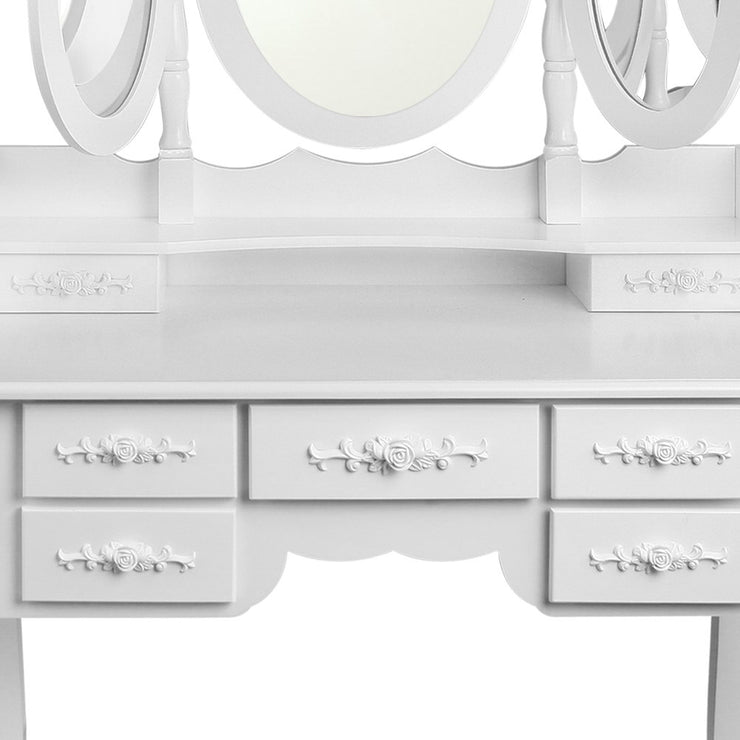 Artiss Dressing Table and Stool - White
