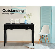Artiss Hallway Console Table Hall Side Entry Display French 3 Drawers Black