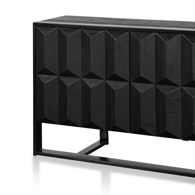 1.78m Recycled Sideboard - Full Black
