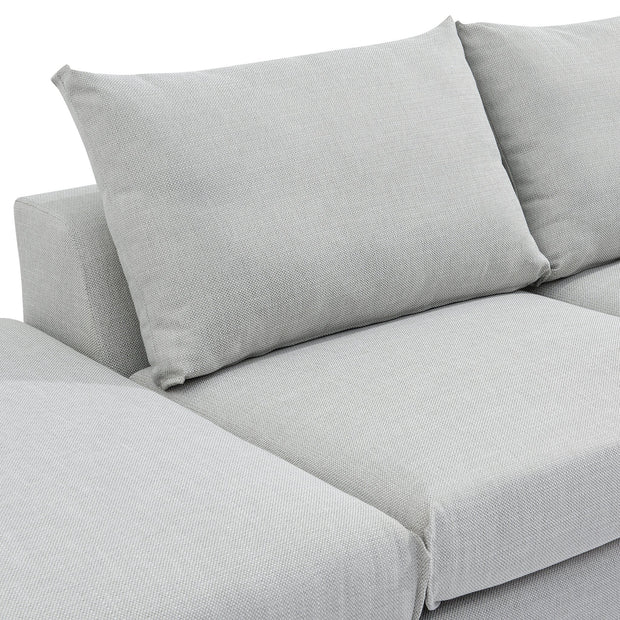 CLC6180-SKS 4 Seater Left Chaise Sofa with Ottoman - Light Texture Grey