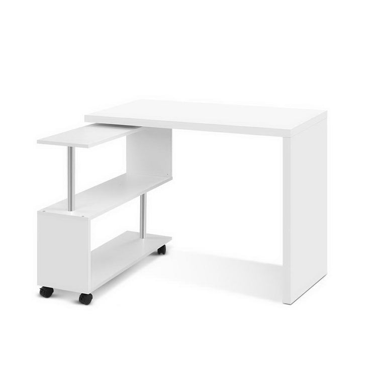 Artiss Office Computer Desk Corner Study Table Workstation Bookcase Swivel