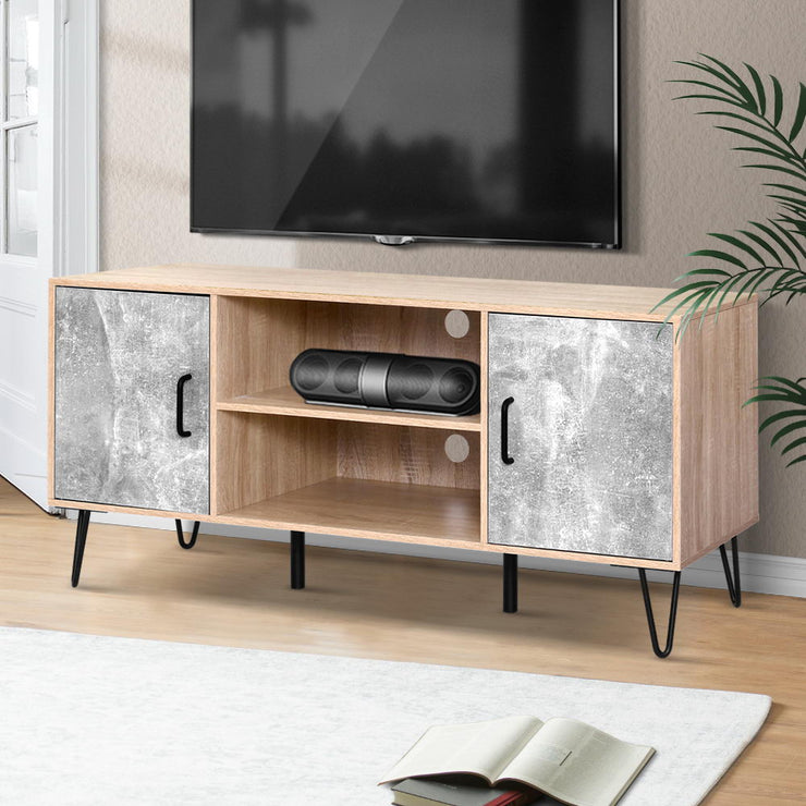Artiss TV Cabinet Entertainment Unit Stand Industrial Wooden Metal Legs Oak