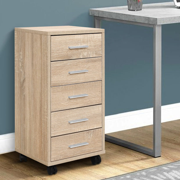 5 Drawer Filing Cabinet Storage Drawers Wood Study Office School File Cupboard