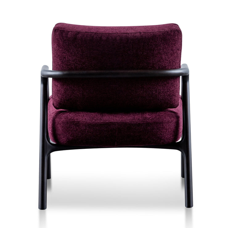 CLC6175-SKS Fabric Armchair - Deep Burgundy with Black Legs