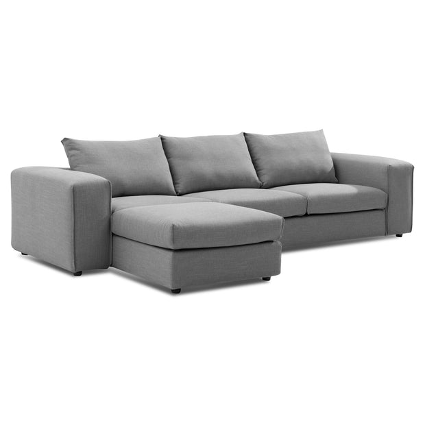 CLC6179-SKS 4 Seater Left Chaise Sofa with Ottoman - Graphite Grey