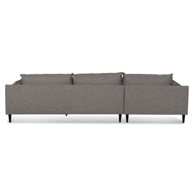 4 Seater Left Chaise Fabric Sofa - Graphite Grey
