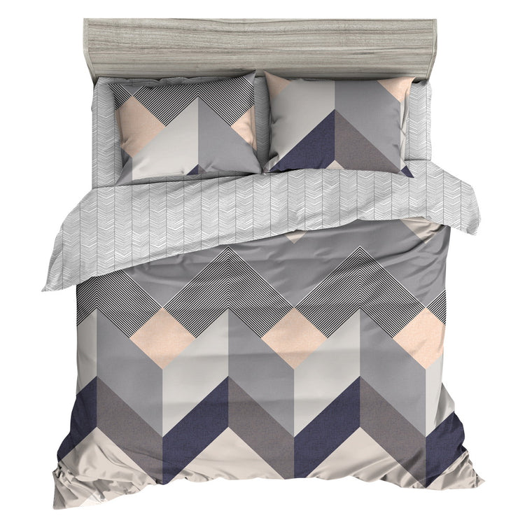 Giselle Bedding Quilt Cover Set King Bed Doona Duvet Sets Geometry Square Pattern