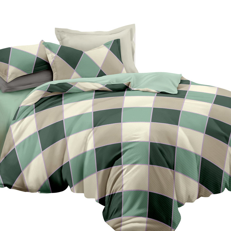 Giselle Bedding Quilt Cover Set Queen Bed Doona Duvet Reversible Sets Square Diamond Pattern