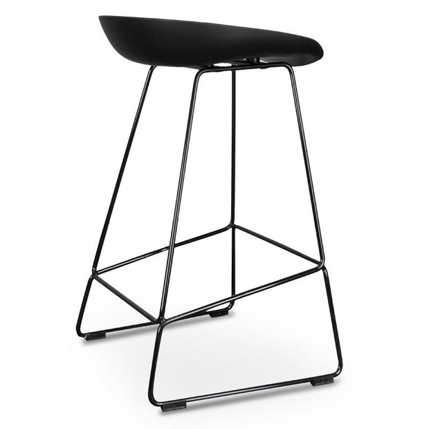 CBS2006-SD 65cm Bar Stool - Black Seat With Black Frame