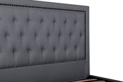 CBD6006-YO Fabric Queen Bed Frame in Lunar Grey with Tufted Headboard
