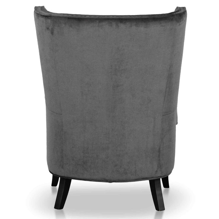 Wingback Armchair - Cosmic Grey Velvet