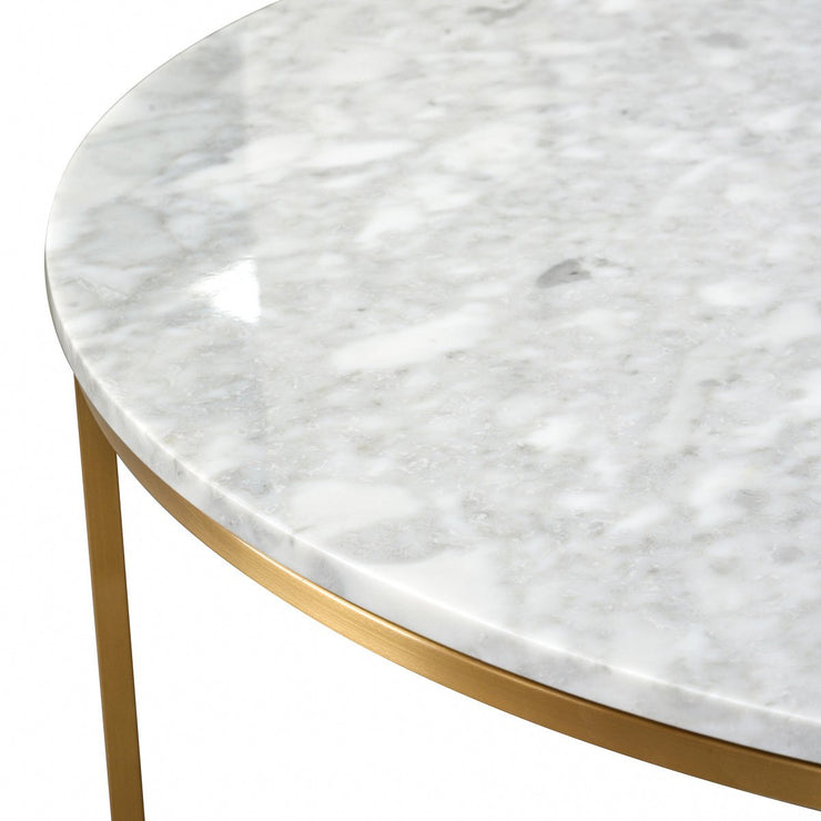 100cm Round Marble Coffee Table