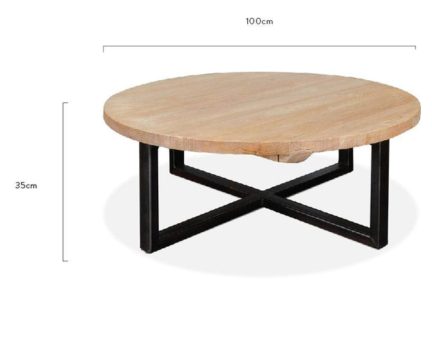 CCF425 Reclaimed 100cm Round Coffee Table