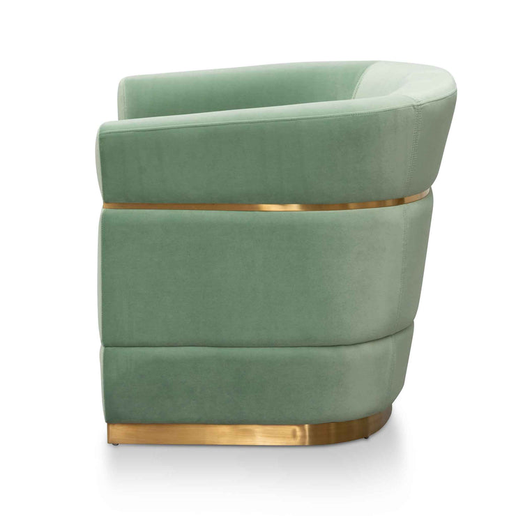 Fabric Lounge Chair - Mint Green