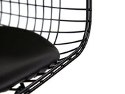 Wire Dining Chair - Black frame Black Seat