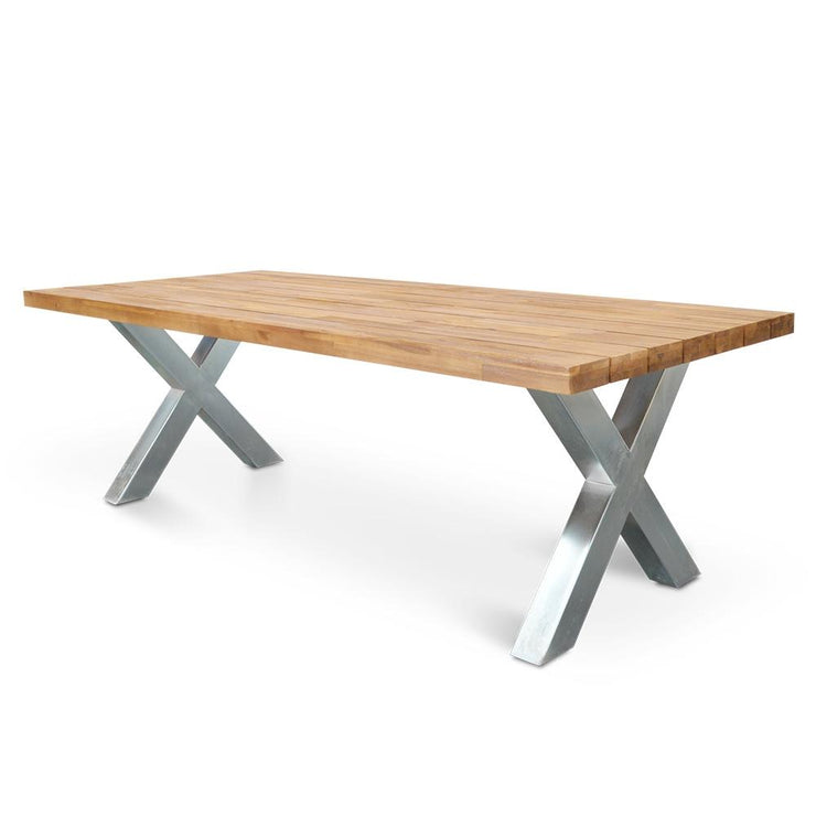 2.5m Outdoor Dining Table - Galvanized
