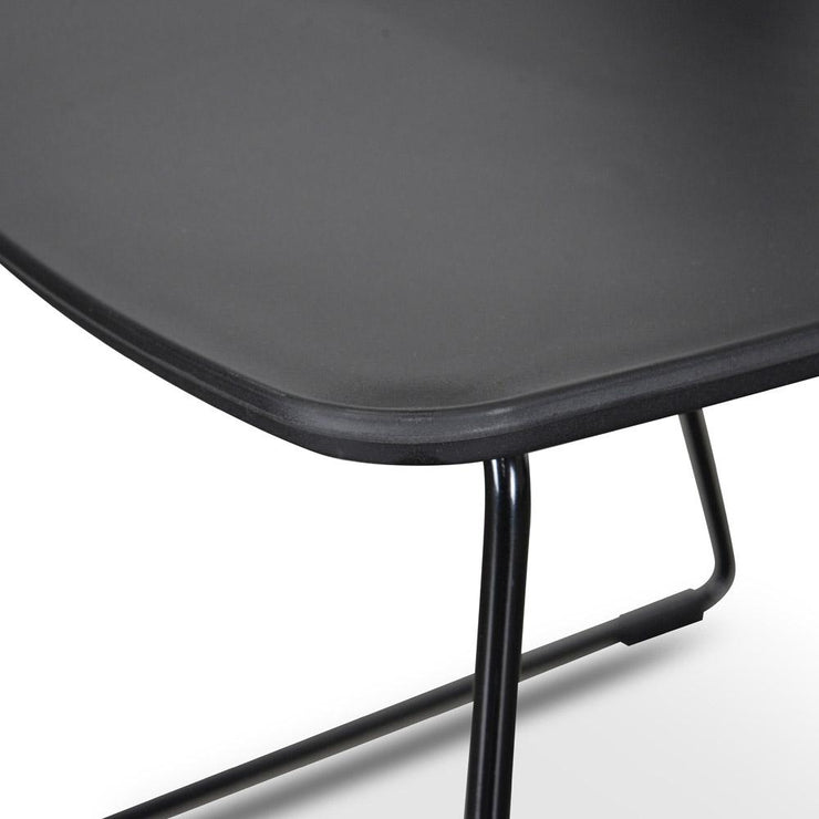 CDC1205-SD Dining Chair - Black Seat - Black Legs