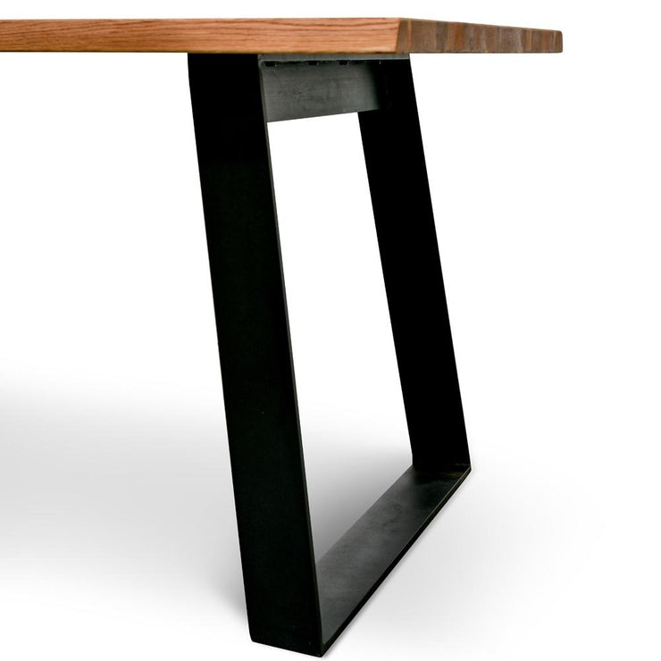 2.2m Dining table - Oak timber panels - Metal Legs
