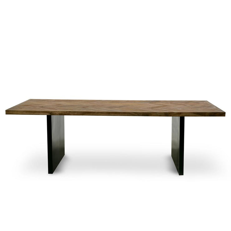 CDT2370-NI Reclaimed Dining Table - Natural - Black