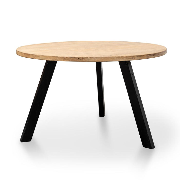 CDT2407 Reclaimed 1.25m Round Dining Table - Black Legs