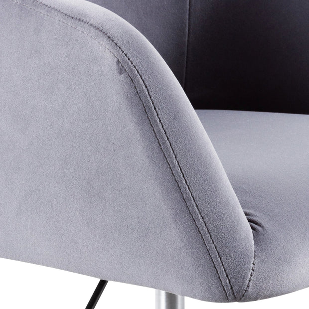 COC6196-LF Charcoal Velvet office Chair - Black Base