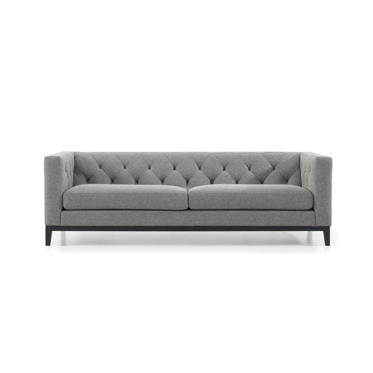CLC2835-SKS 3 Seater Sofa - Graphite Grey Fabric with Black Base
