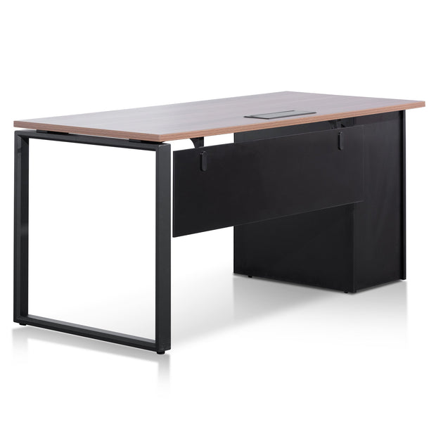 COT6162-SN 1.6m Single Seater Walnut Office Desk - Black Legs