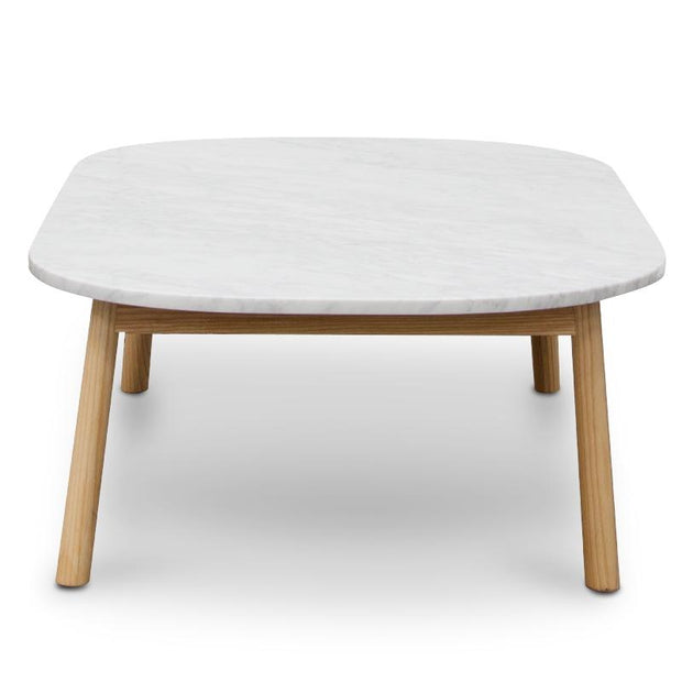 CCF2012-SD 110cm Marble Coffee Table - Natural Base