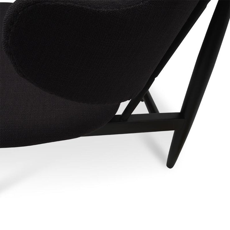 Chair in Black With Black Frame
