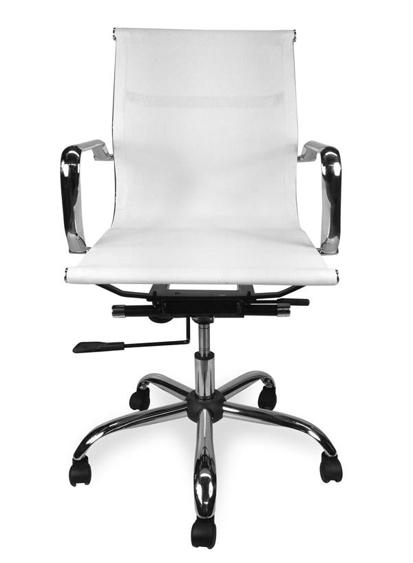 Designer Mesh Boardroom Office Chair - White