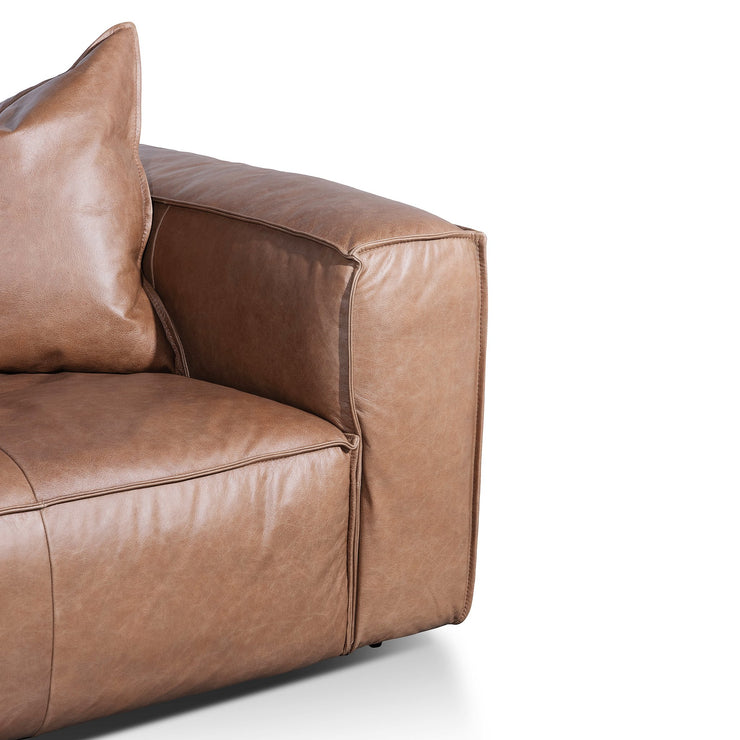 CLC6246-KSO 3 Seater Sofa with Cushion and Pillow - Saddle Brown