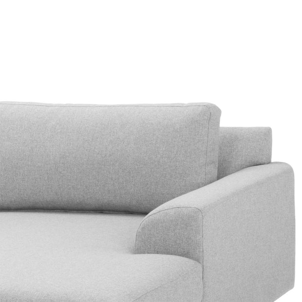 3 Seater Right Chaise Sofa - Light Grey