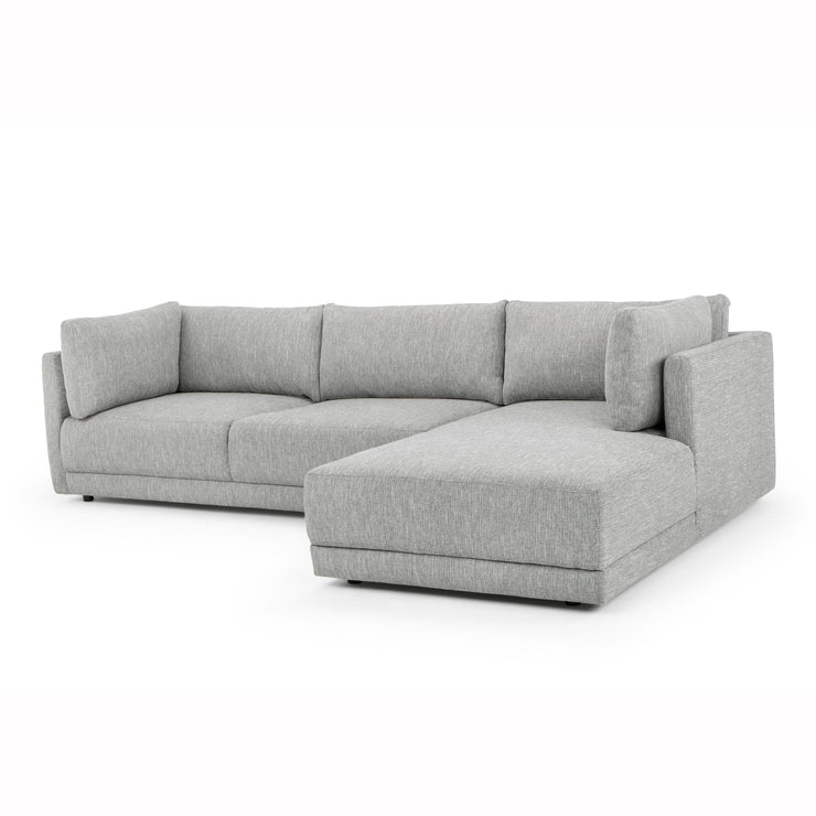 CLC2938-FA 3 Seater Right Chaise Fabric Sofa - Graphite Grey