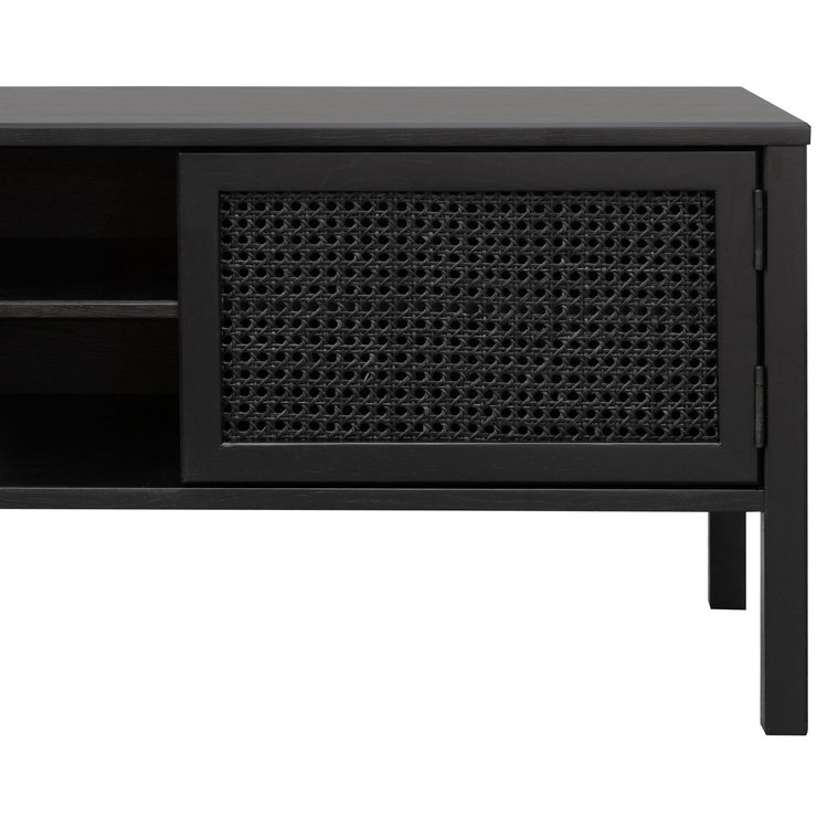 1.56m Wooden Entertainment TV Unit - Black