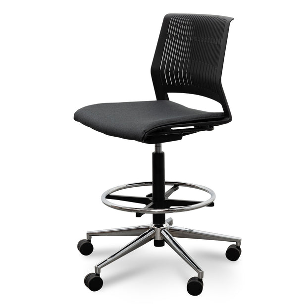 Drafting Office Chair - Black seat cushion
