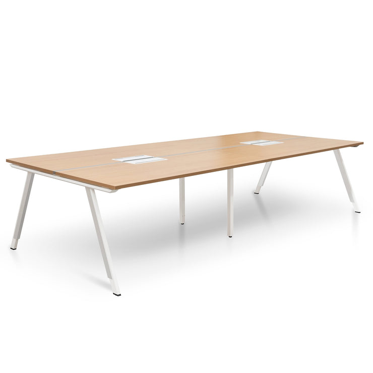 COT2496-SN-OT2497-SN 4 Seater 3.2m Office Desk - Natural