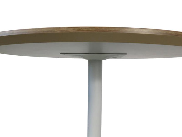 Round Office Meeting Table - Walnut