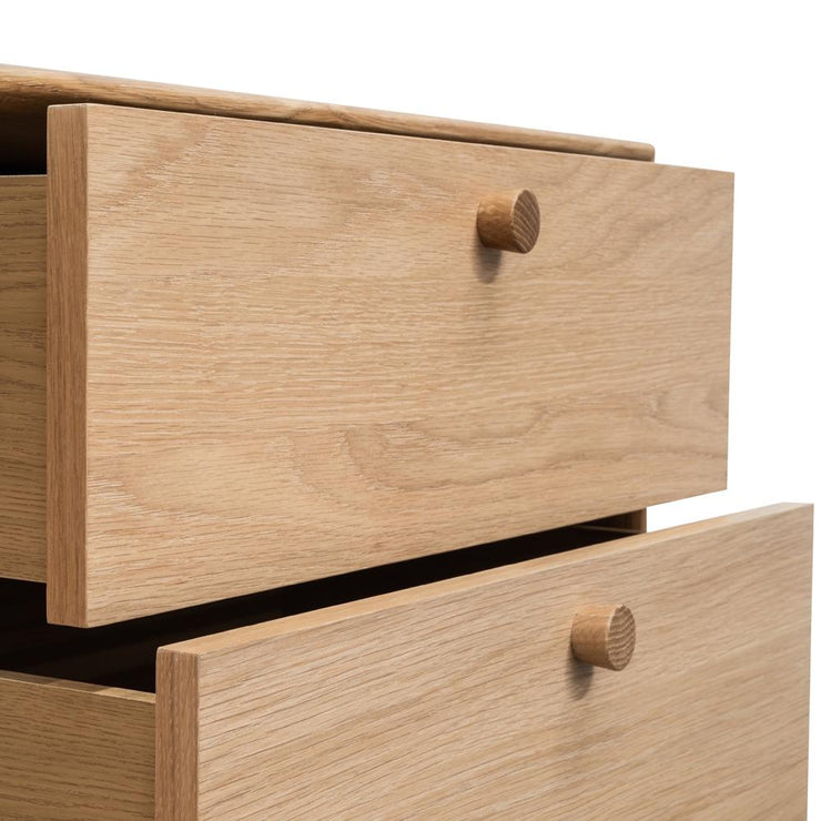 CST2324-VN 2 Drawer Side Table - Oak